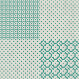 Set of retro abstract seamless background with fab Royalty Free Stock Photography