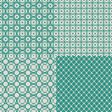 Set of retro abstract seamless background with fab Royalty Free Stock Images