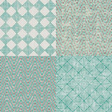 Set of retro abstract seamless background with fab Stock Photo