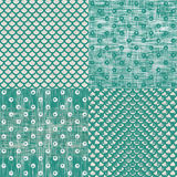 Set of retro abstract seamless background with fab Royalty Free Stock Photos