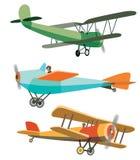 Set of Retro Airplanes Stock Photography