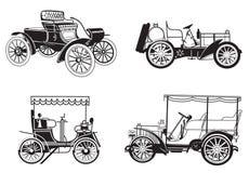 Set - retro automobiles - vector. Vector set of the retro automobiles. Eps 8 Royalty Free Stock Photos