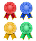 Award and ribbons Royalty Free Stock Image