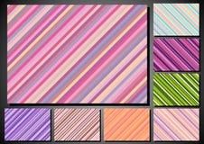 Set of retro background with stripes Royalty Free Stock Photos