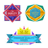 Set of retro badge jewel labels and logo. Set of color vector retro badge jewel labels and banners Royalty Free Stock Images