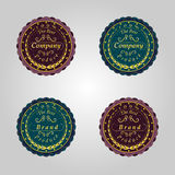set of retro badges.Company,the best product Stock Image