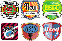 Set of retro badges Stock Photography