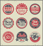 Set of retro badges Royalty Free Stock Photos
