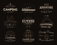 Set of retro badges and label logo graphics Stock Photos