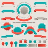 Set of retro badges, labels, ribbons and design Stock Images