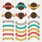 Set of retro badges, labels, ribbons and design Stock Image