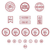 A Set of Retro Badges. A set of retro themed badges Royalty Free Stock Photography
