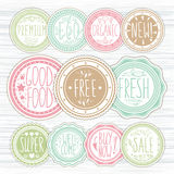 Set of retro badges. Vintage labels. Hand-drawn lettering. Royalty Free Stock Photos