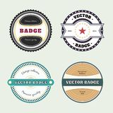 Set of retro badges. Vintage Round icons Royalty Free Stock Photo