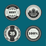 Set of retro badges. Vintage Round icons. Royalty Free Stock Image