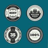 Set of retro badges. Vintage Round icons. Royalty Free Stock Image