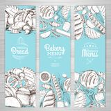Set of retro bakery banners. Bakery products. Illustration Stock Photography