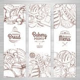 Set of retro bakery banners. Bakery products. Illustration Royalty Free Stock Images