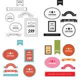 Set of retro bakery labels 4 style Stock Photo