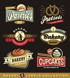 Set of retro bakery shop design elements Royalty Free Stock Image