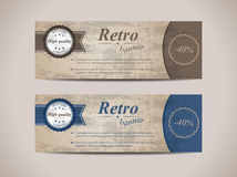 Set of retro banners Royalty Free Stock Photos