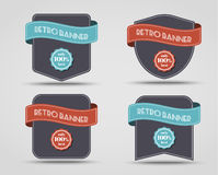 Set of retro banners (labels) Stock Photo