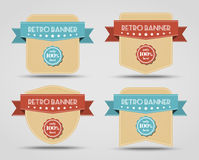Set of retro banners (labels) Royalty Free Stock Photos