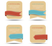Set of retro banners and ribbons of different shapes Stock Photography