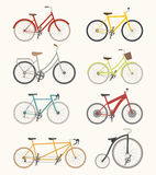 Set of retro bicycle Stock Photos