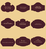 Set of Retro Blank Frame Royalty Free Stock Images