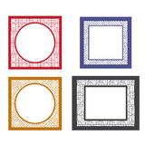 Set of retro blank picture frame template Stock Photo