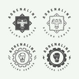 Set of retro boxing and martial arts logo badges and labels Royalty Free Stock Images