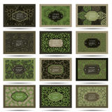 Set retro business card. Card or invitation Royalty Free Stock Photography