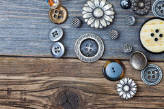 Set of retro buttons Stock Images