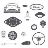 Set of Retro car design vintage element. Vector Royalty Free Stock Images