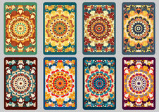 Set retro cards Royalty Free Stock Photography
