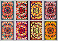 Set retro cards Royalty Free Stock Images