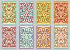 Set retro cards Royalty Free Stock Image
