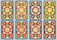 Set retro cards Stock Image
