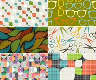 Set of retro cards covers. Royalty Free Stock Photo
