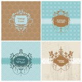 Set of Retro Cards with photo frame Royalty Free Stock Photo