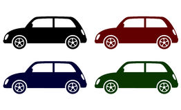 Set of retro cars icons Stock Photo