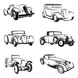Set of retro cars Royalty Free Stock Images