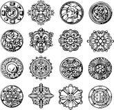 Set of Retro Circle Dingbats Stock Photos