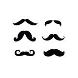 Set of retro and classic mustaches Stock Photography