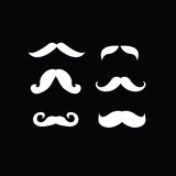 Set of retro and classic mustaches Stock Image