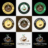 Set of retro coffee badge label logo design Stock Images