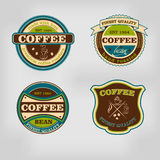 Set of retro coffee house shop badges, labels, logo Stock Photo