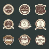 Set of retro coffee house shop badges, labels, logo Royalty Free Stock Images