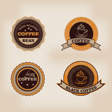 Set of retro coffee house shop badges, labels, logo Stock Images